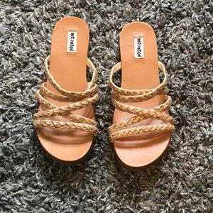 Not Rated Gold sandals